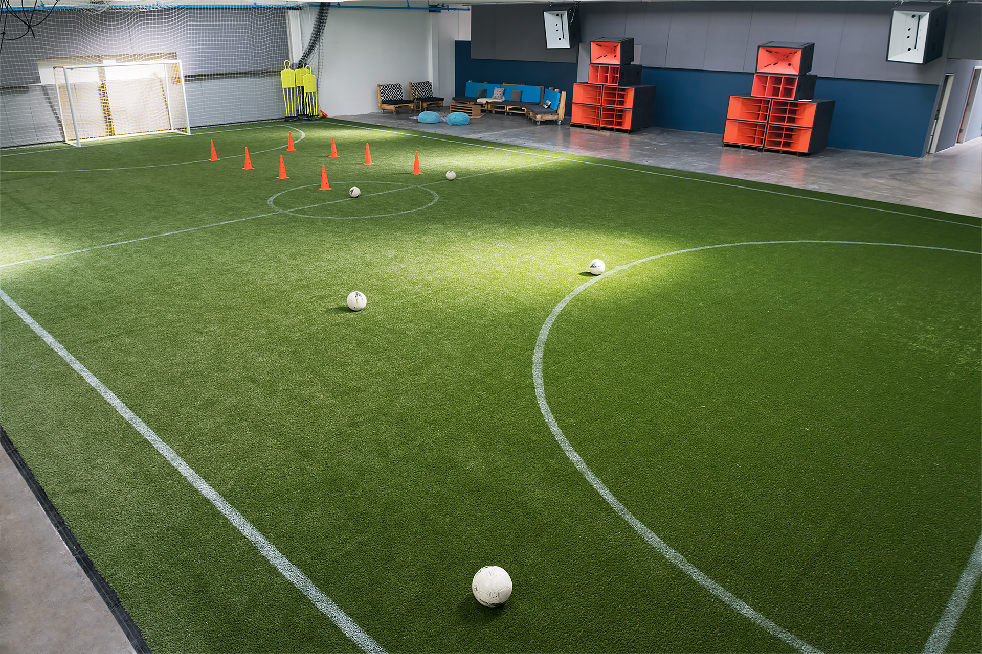 EVSA indoor soccer pitch overhead