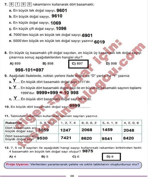 4 Sinif Dikey Yayincilik Matematik Sayfa 38
