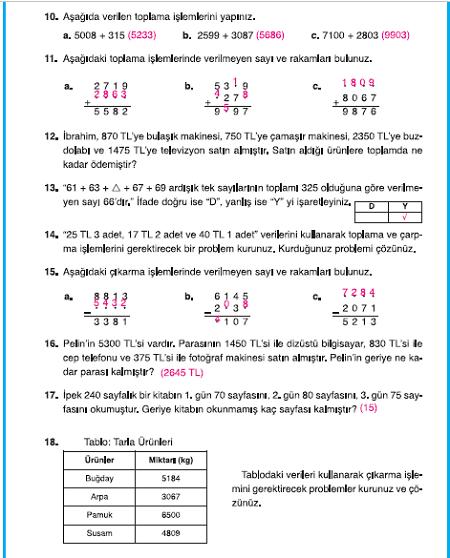 4 Sinif Dikey Yayincilik Matematik Sayfa 50
