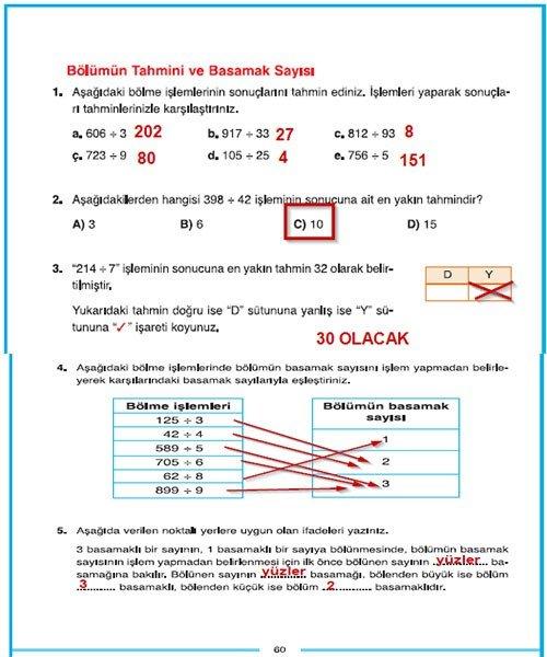 4 Sinif Dikey Yayincilik Matematik Sayfa 60