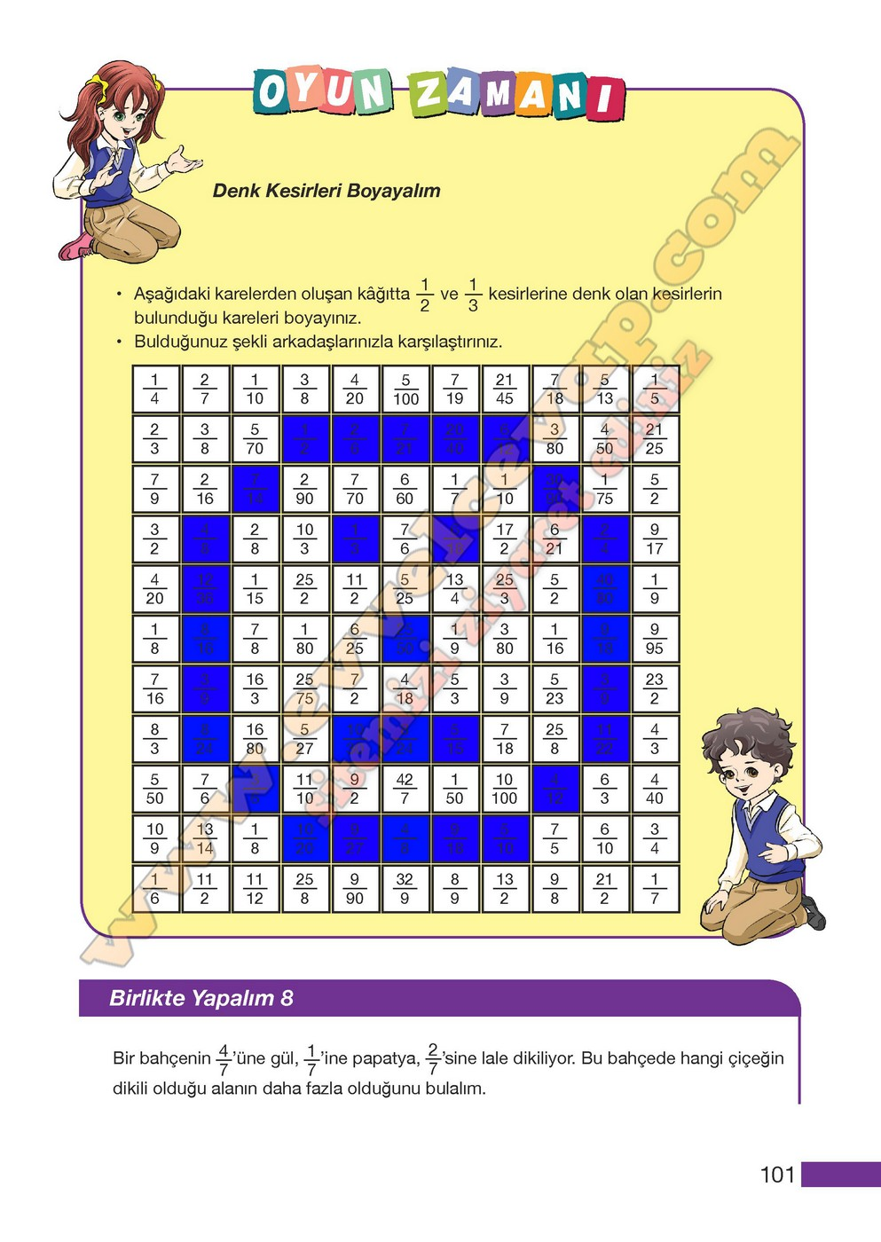 5 Sinif Meb Yayinlari Matematik Ders Kitabi Sayfa 101 Cevaplari