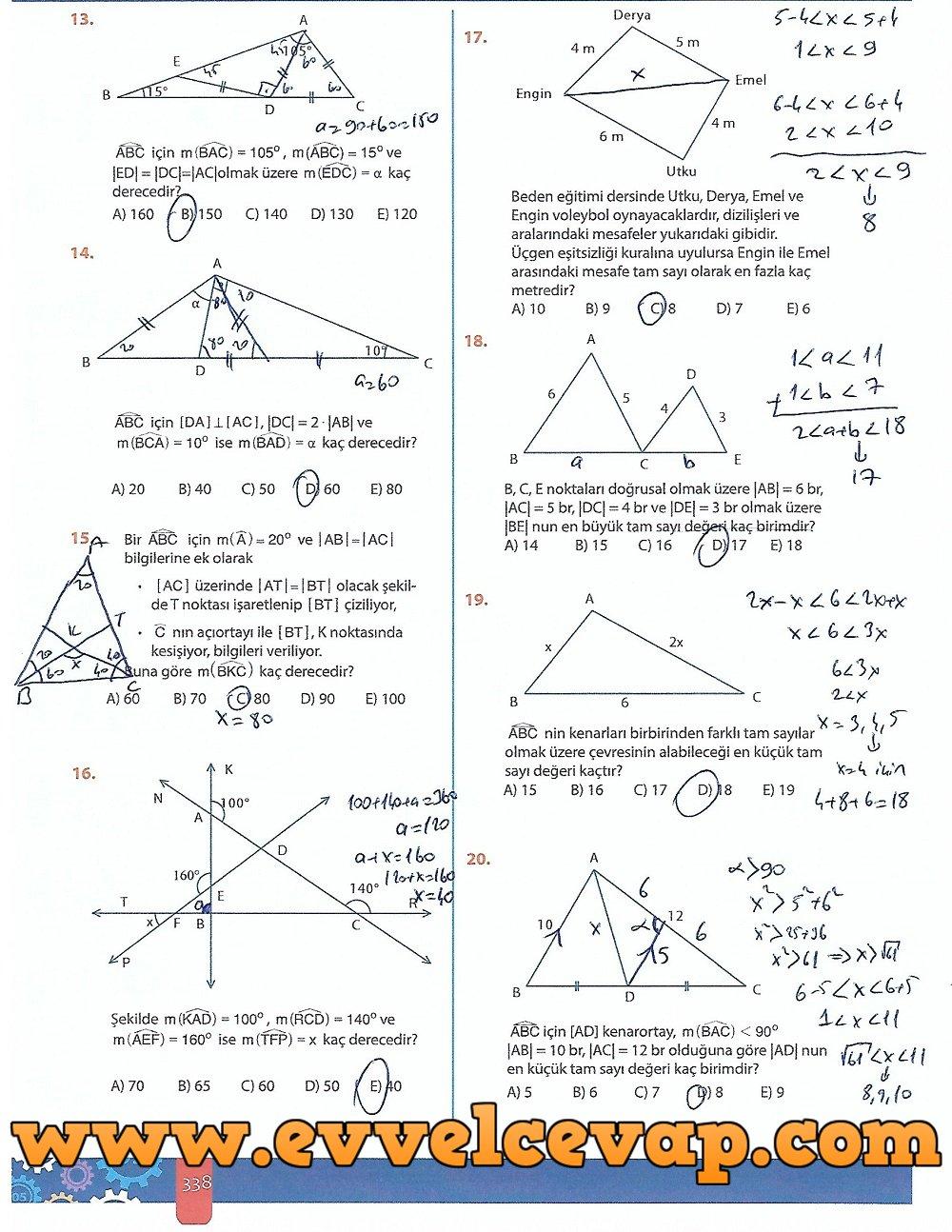 9 Sinif Meb Yayinlari Matematik Ders Kitabi 5 Unite Ucgenler