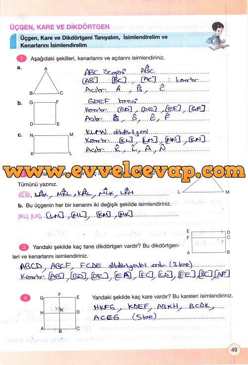 4 Sinif Yakin Cag Yayinlari Matematik Calisma Kitabi Sayfa 49 Cevabi