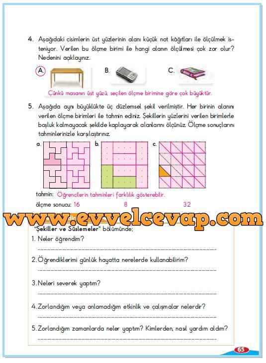 3 Sinif Berkay Yayinlari Matematik Calisma Kitabi Sayfa 65 Cevabi