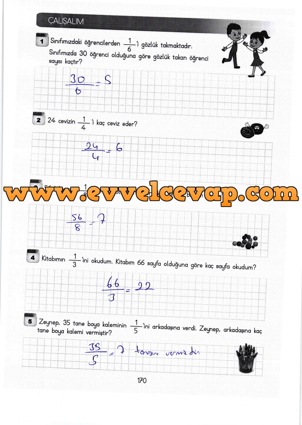3 Sinif Meb Yayinlari Matematik Ders Kitabi Sayfa 170 Cevaplari