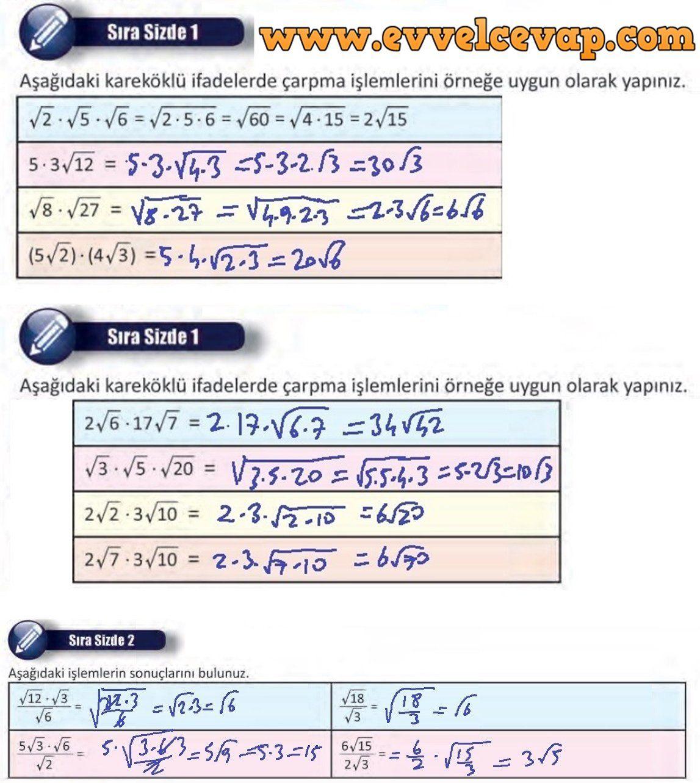 8 Sinif Matematik Ders Kitabi Sayfa 50 Cevaplari Meb Yayinlari