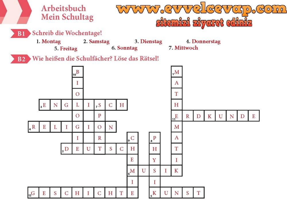 Almanca A1 1 Calisma Kitabi Sayfa 16 Cevaplari Meb Yayinlari