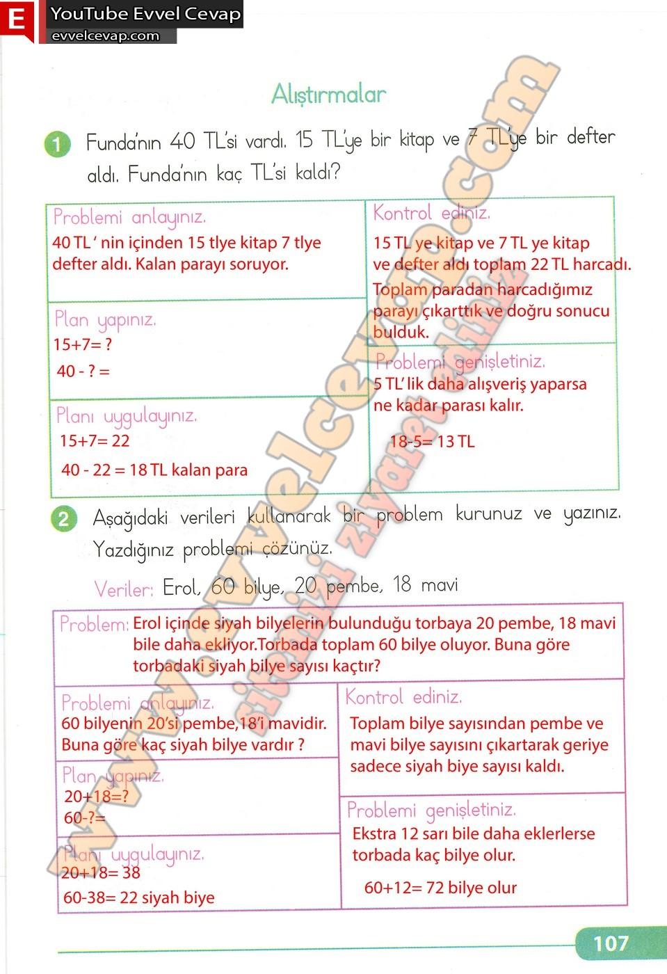2 Sinif Matematik Teknoarti Yayinlari Ders Kitabi Cevaplari Sayfa 107