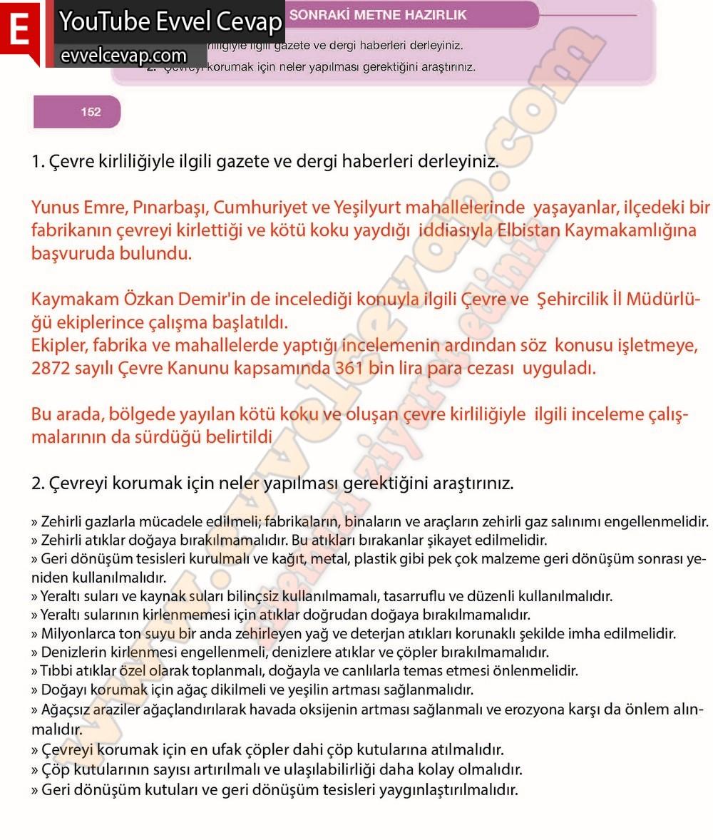 7 Sinif Ozgun Yayinlari Turkce Ders Kitabi Sayfa 148 149 150 151