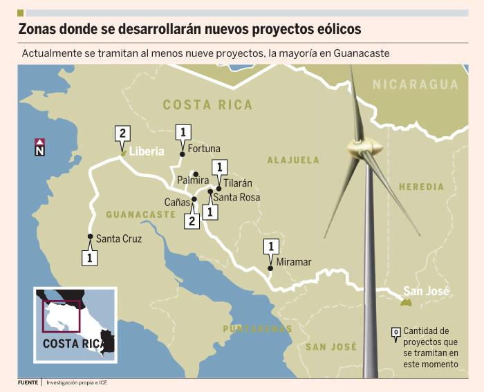Eólica: Costa Rica desarrolla nuevos parques eólicos.