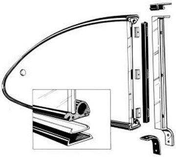 Ghia Quarter Window Kit 72-74 at evwparts