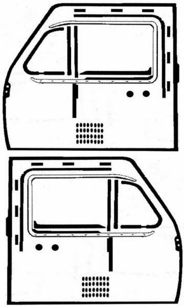 Door Window and Seal Kit 68-74 at evwparts