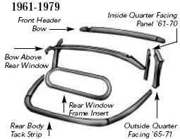 Convertible Wood Bows 1968-1972 at evwparts