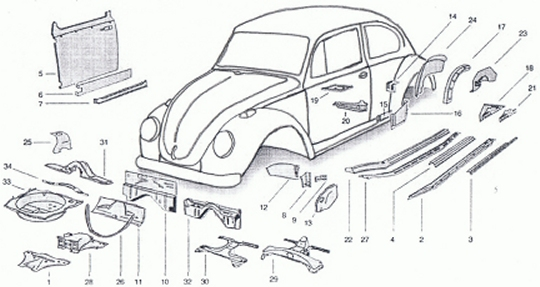 1972 Vw Super Beetle Parts Diagram. Diagram. Auto Wiring