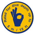 dive depth 5m