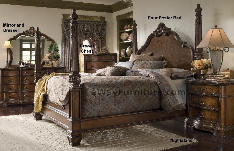 versailles four poster bedroom set
