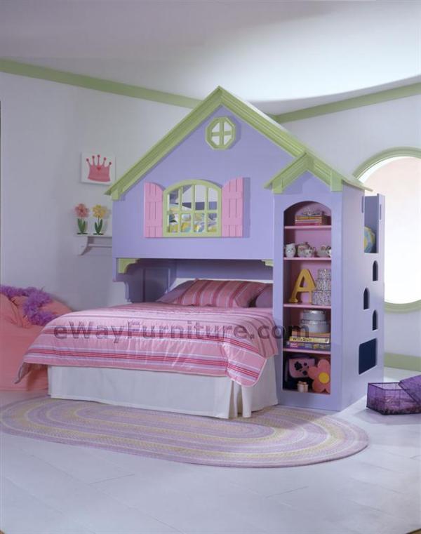 Girls Dollhouse Bunk Bed