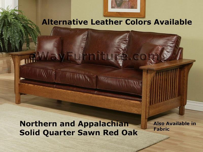 parker sofa and loveseat leather company fforestfach american made mission style rift quarter sawn oak ...
