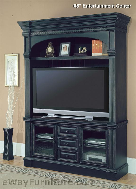 Parker House Venezia Vintage Black 65 TV Entertainment Center