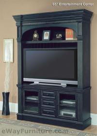 """Parker House Venezia Vintage Black 65"""" TV Entertainment Center"""