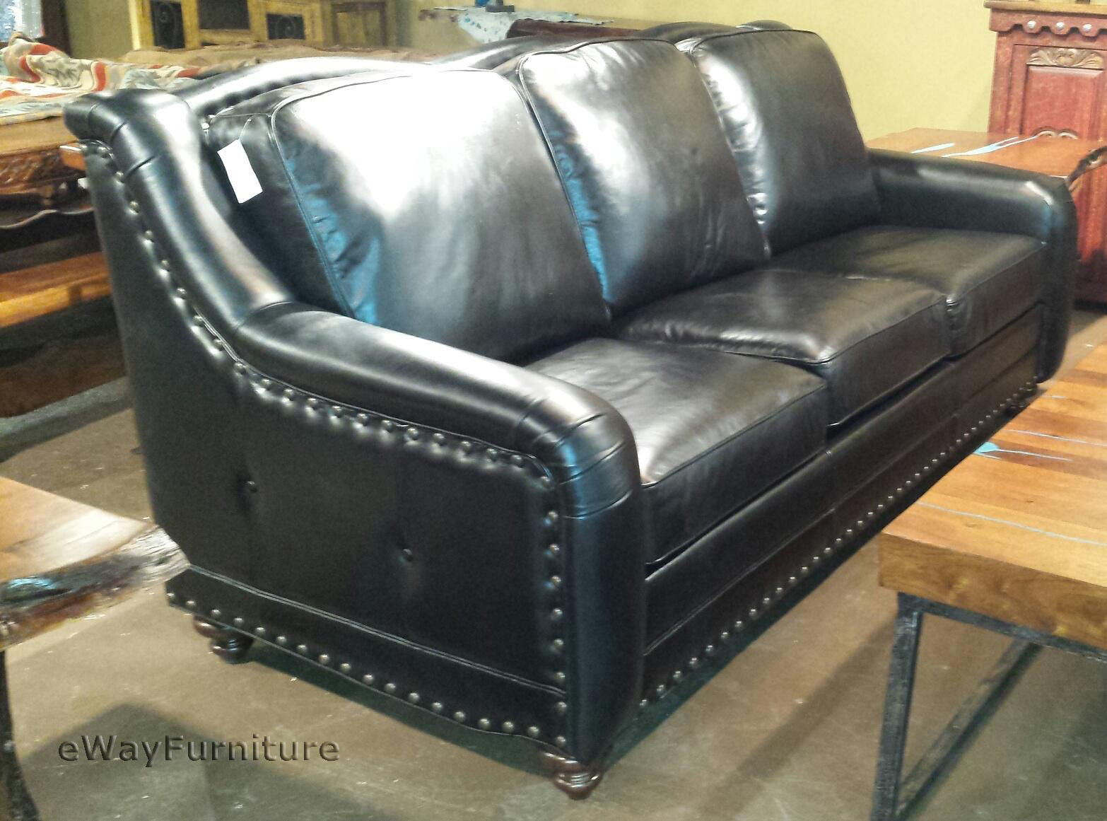 best sofas made in the usa sofa with chaise end chisolm top grain leather bison black