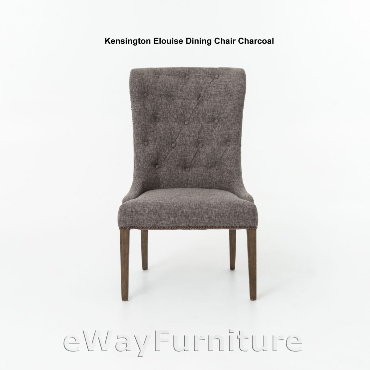 kensington leather chair etsy dining room covers elouise charcoal