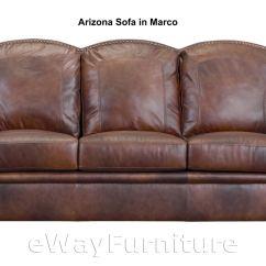 Leather Sofa Phoenix Arizona Queen Sleeper Top Grain In Marco