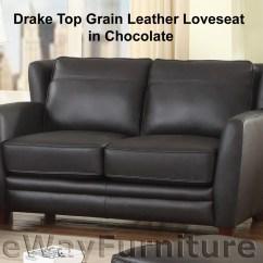 Montclair Top Grain Leather Sofa And Loveseat Set 2 Seater Brown Ebay Drake In Chocolate