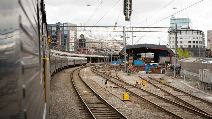 SJ tåg 50 vid Norra bantorget