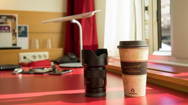 Kaffe och objektiv