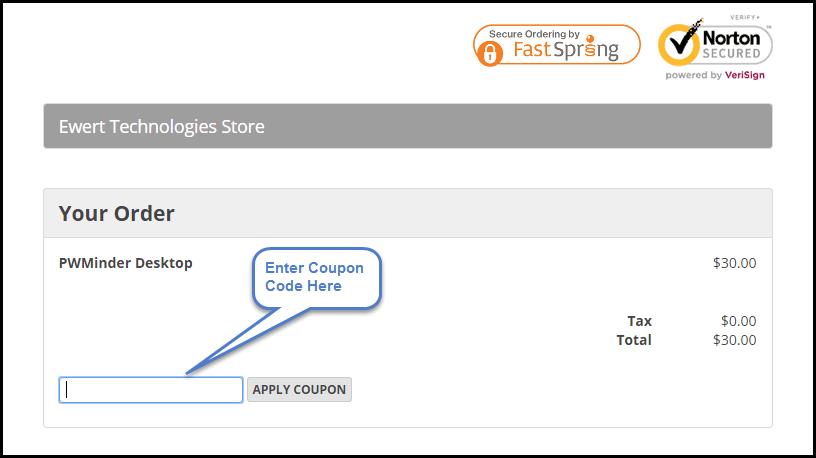 PWMinder Desktop Coupon Code