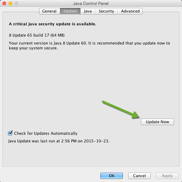 Java Control Panel on Mac OS X