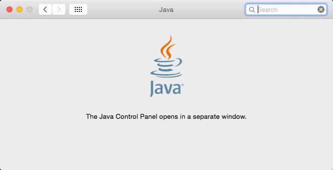 Mac OS X System Preferences Java
