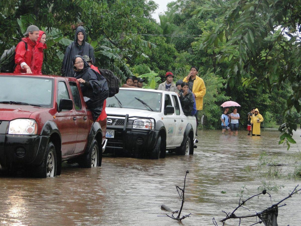 Überschwemmungskatastrophe in El Salvador