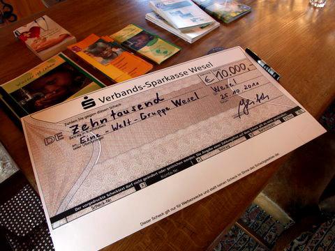 10.000 € für Überschwemmungsopferin El Salvador