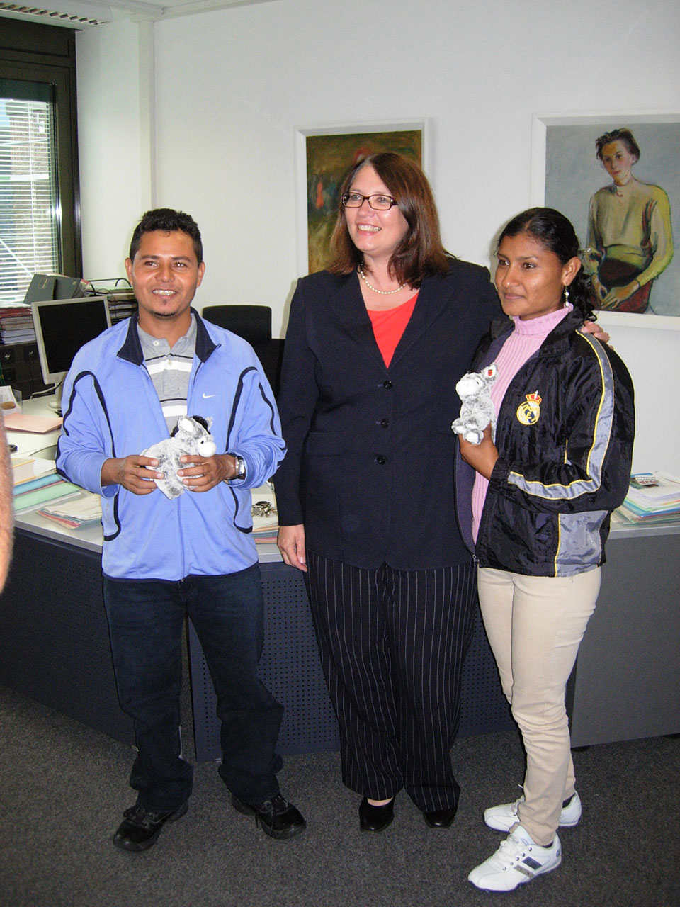Maria und Cristino ausEl Salvador in Wesel angekommen