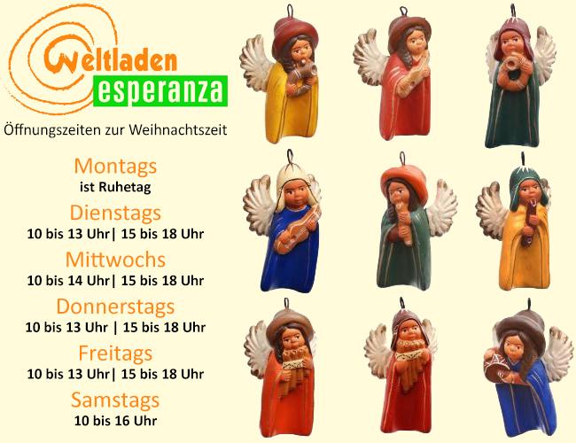 Weltladen Öffnungszeiten Weihnachten 2012