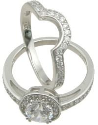 Wedding Sets: Wholesale Sterling Silver Cz Wedding Sets
