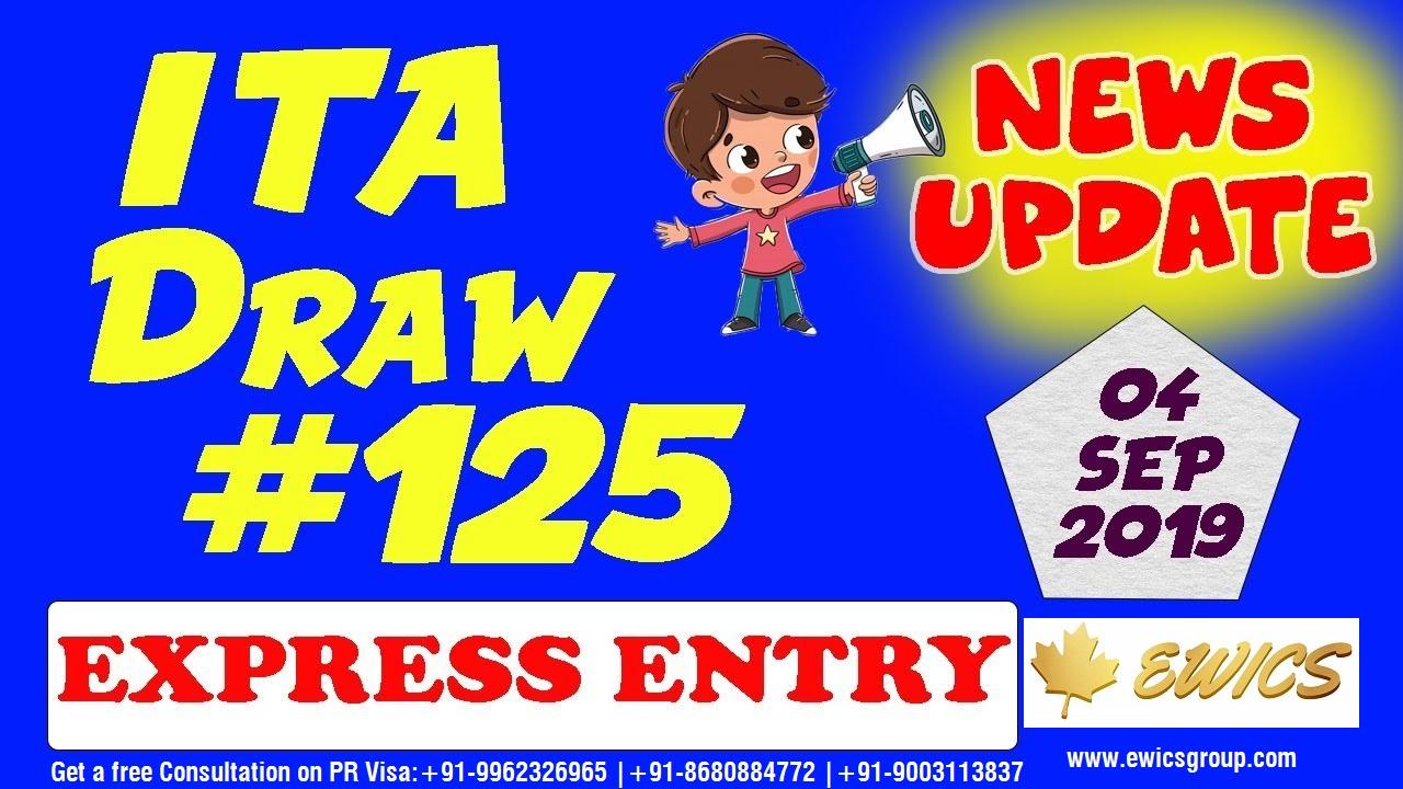 Express Entry ITA Draw #125 | 04th September 2019 Express