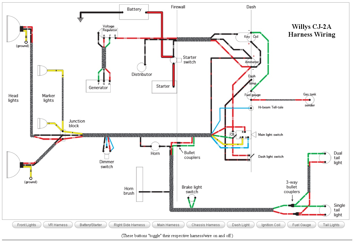 hight resolution of wiring schematics ewillys cj 2a wiring wiring schematics ewillys ac generator wiring diagram at cita asia