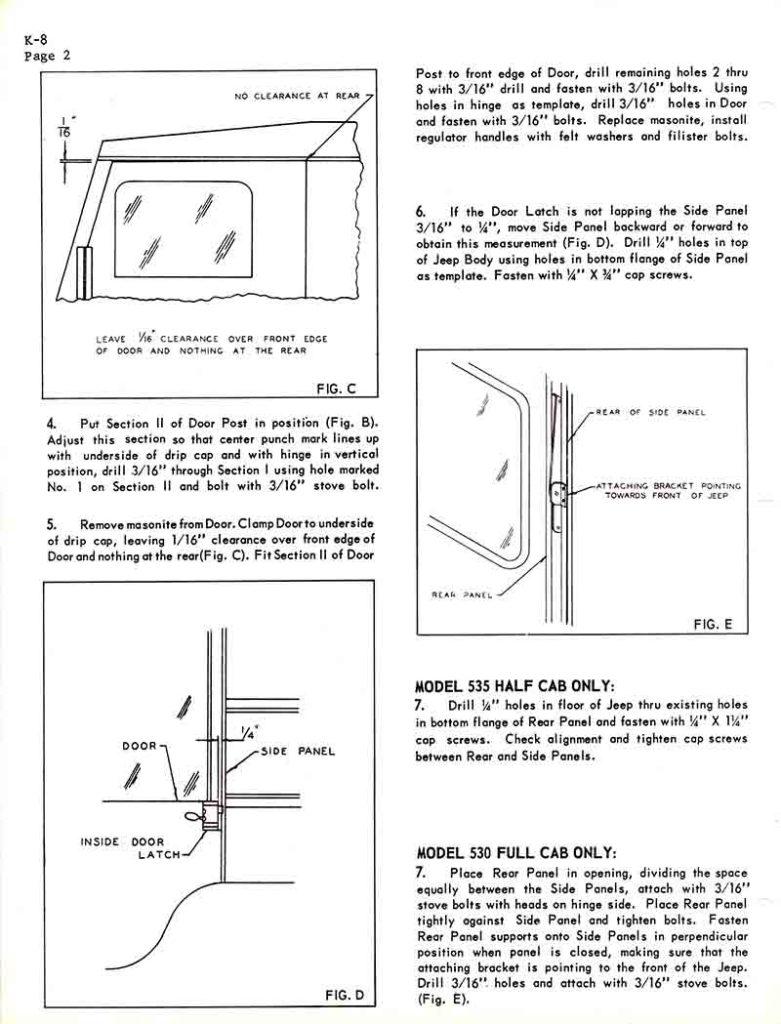 medium resolution of koenig standard cab hardtop instructions 530 630 full 535 half