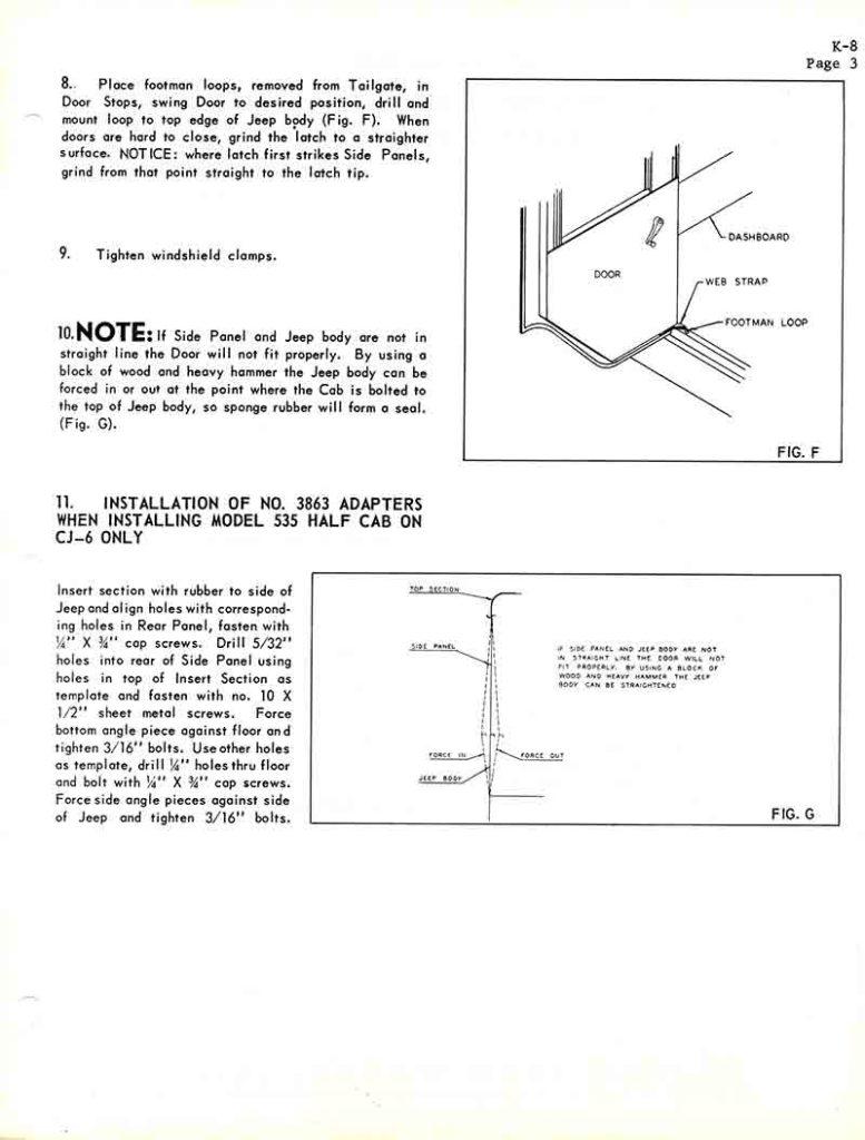 hight resolution of koenig standard cab hardtop instructions 530 630 full 535 half