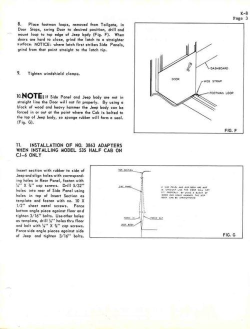 small resolution of koenig standard cab hardtop instructions 530 630 full 535 half
