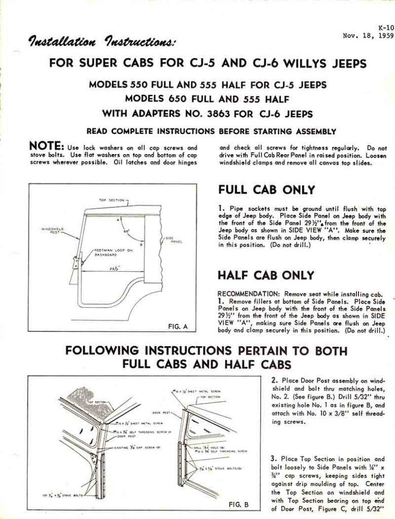 medium resolution of 1959 11 18 cj5 cj6 koenig model 550