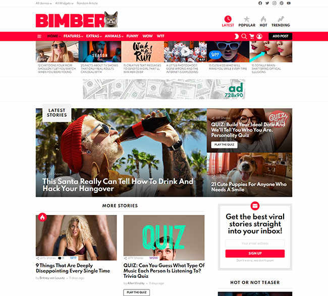 Tema WordPress Website Berita Bimber