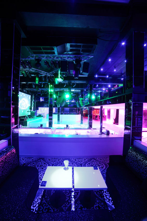 32445654 – colorful interior of bright and beautiful night club