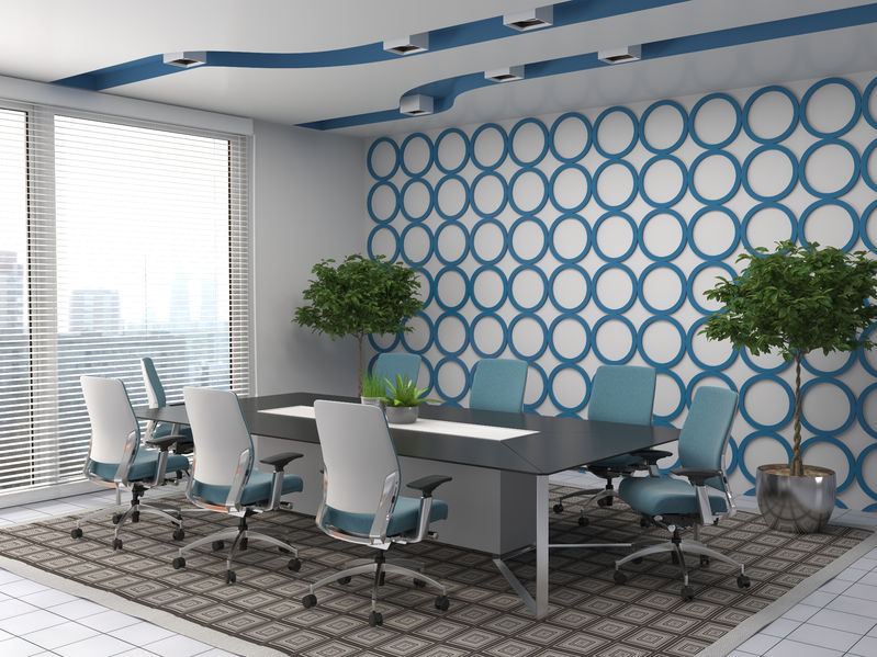 57709846 – office interior. 3d illustration