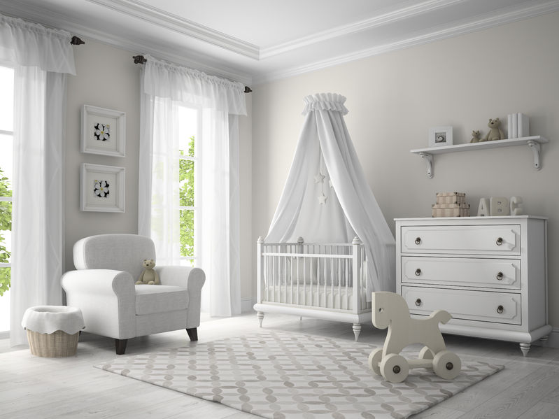 57656725 – classic children room white color 3d rendering
