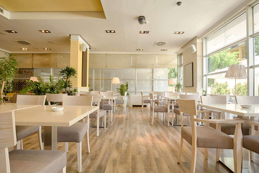 44975577 – interior of a beautiful bright cafe