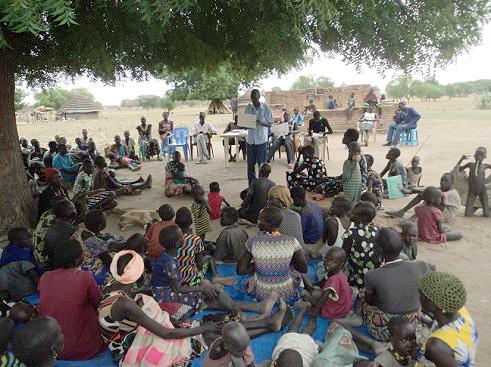 Gesundheitsschulung in den Dörfern